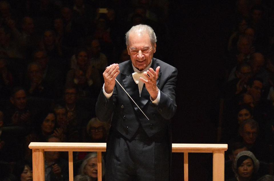Rafael Frühbeck de Burgos led the Boston Symphony Orchestra in his last performance at Symphony Hall on Nov. 26, 2013.